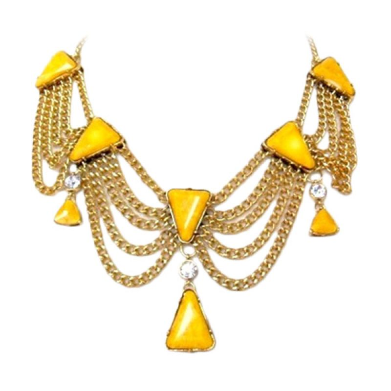 Trinket Box The Queen Yellow Necklace