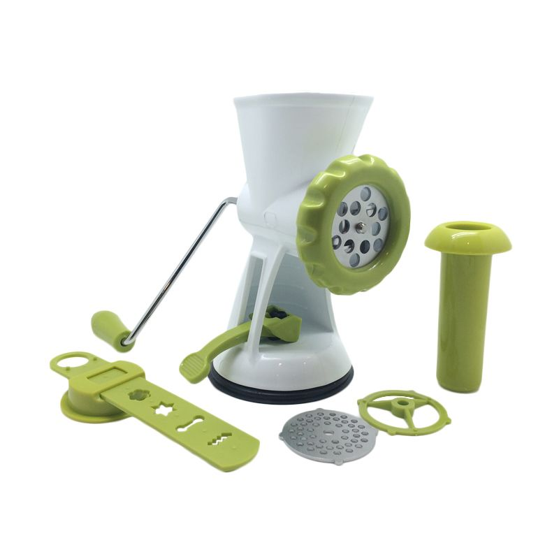 Cyprus GR-0074 White Green Grinder and Cookie Press