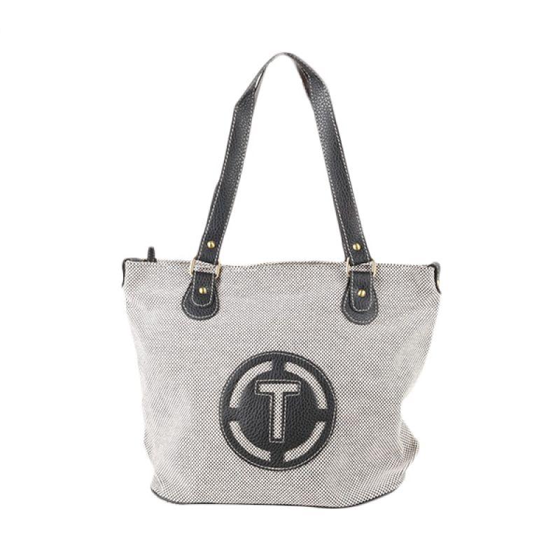 Triset Bags Canvas Tote Bag 011 TB20011090100 Black Tas Tangan