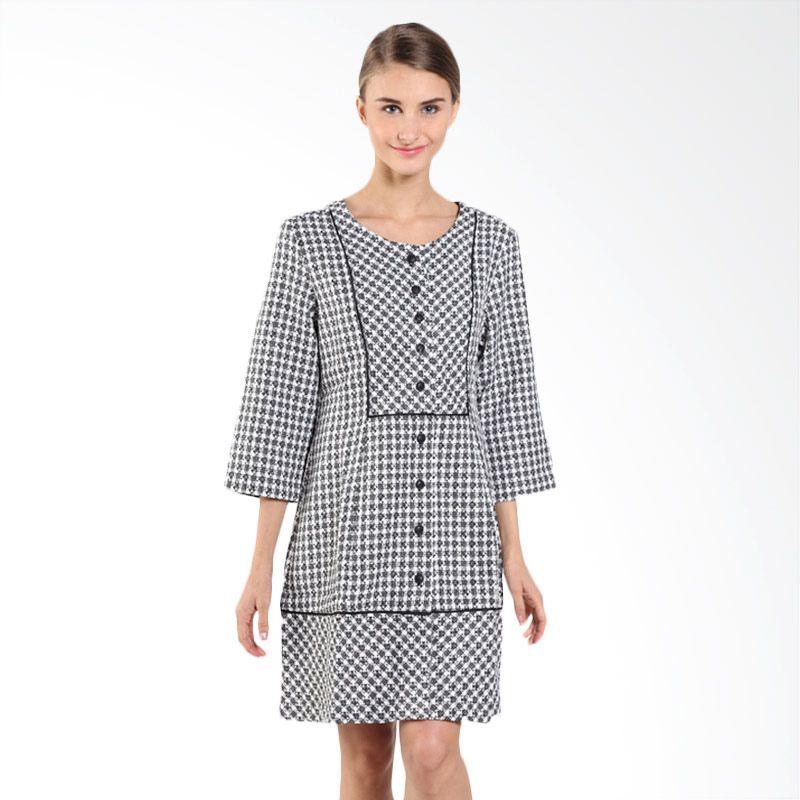 Triset Ladies Pintuck LD300420101 Black Dress