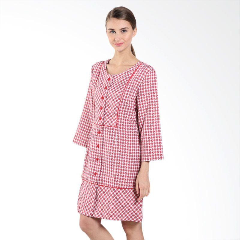 Triset Ladies Pintuck LD300420128 Red Dress