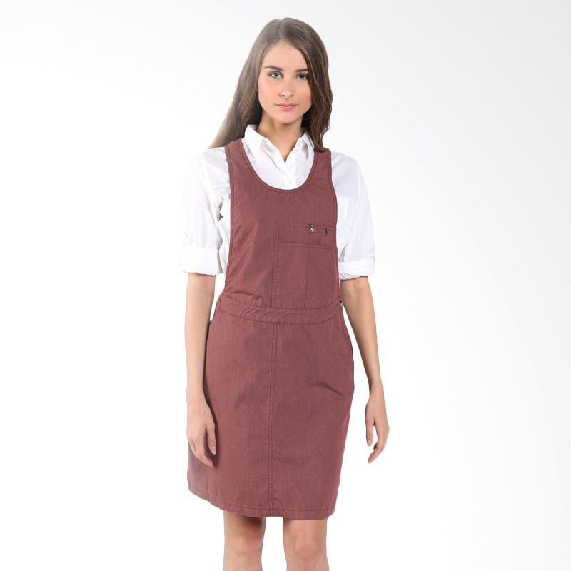 Triset Overall 026 TD500260137 Maroon Mini Dress