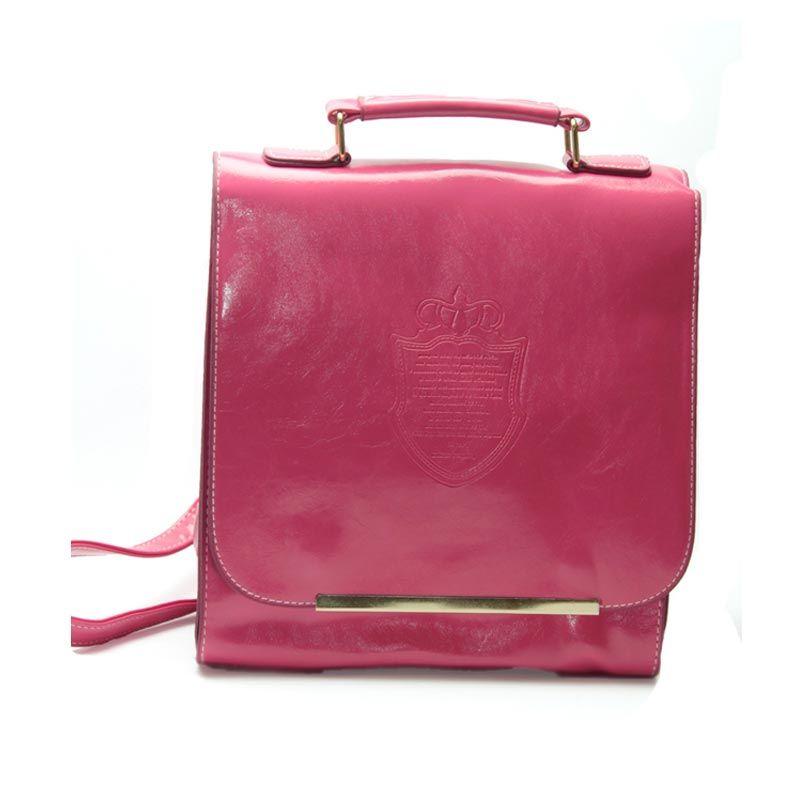 Troos Bag Korea Style Castle 2 Function A041 Pink Tas Ransel