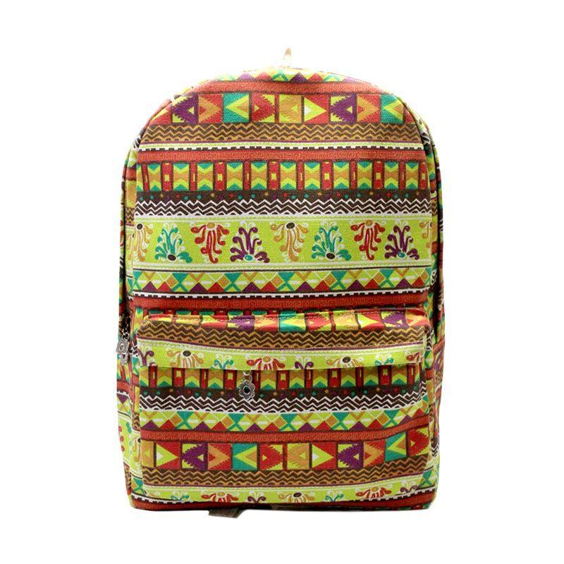 Troos Bag Fashion Korea Style Tribal Light Colour A012 Tas Ransel
