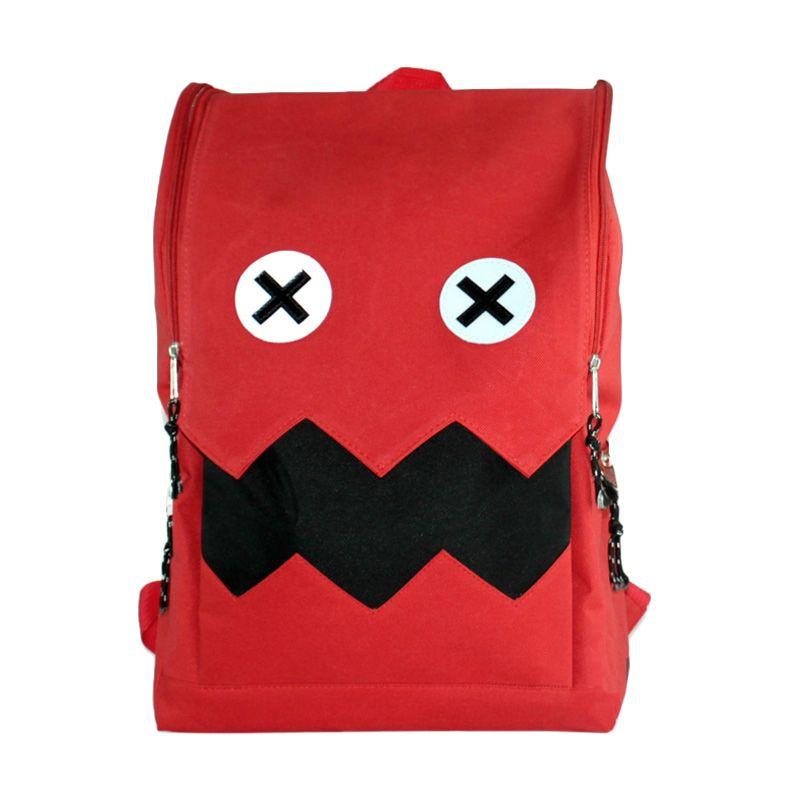 Troos Bag Fashion Korean Style Red Monster A002 Tas Ransel