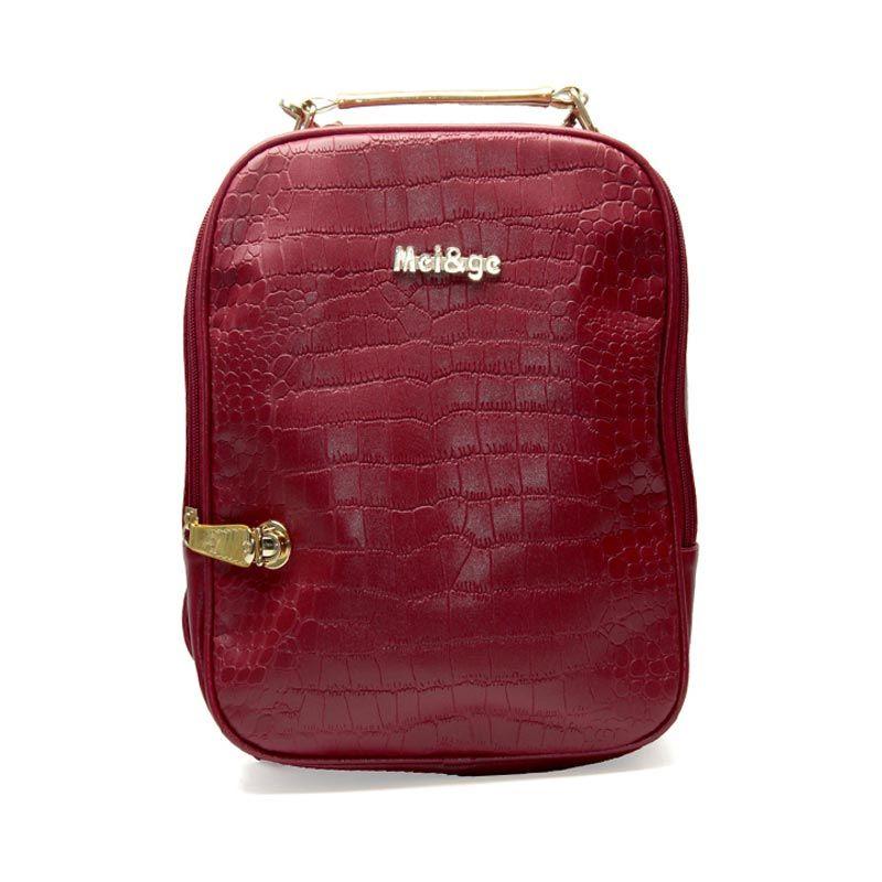 Troos Bag Korea Style Crocs A055 Red Tas Ransel