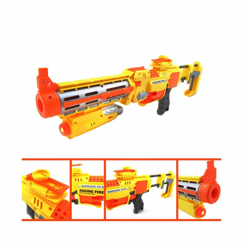 TSH Pistol Mainan Model Nerf Semi Otomatis Peluru Busa / Soft Bullet Gun