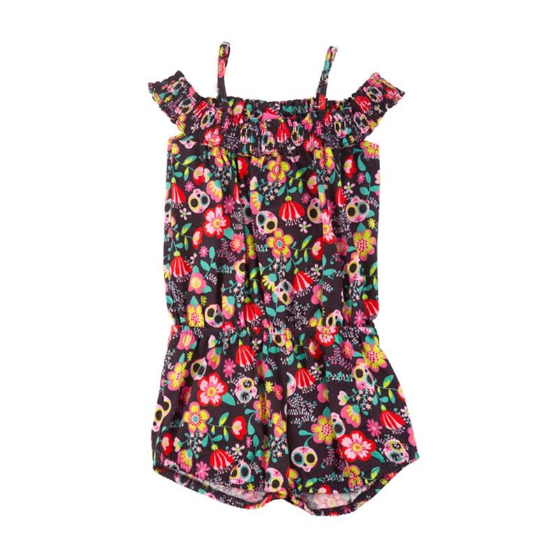 Tuc Tuc 44553 Printed Overall Skull Girl Jumpsuit Anak Perempuan