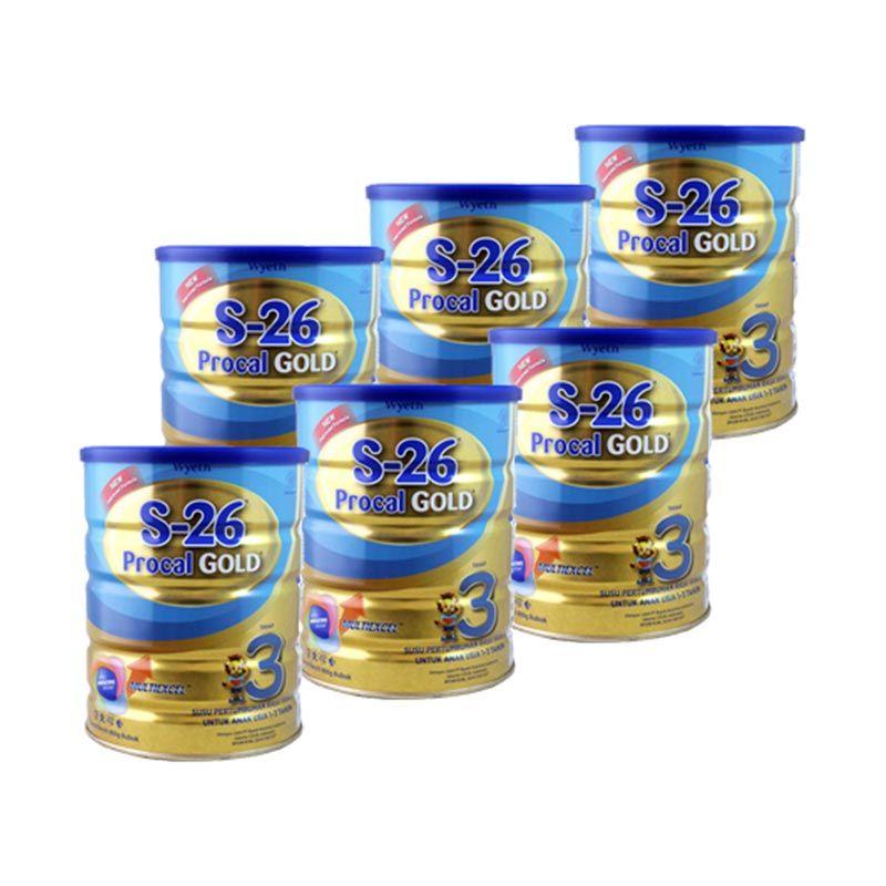 Wyeth S26 Procal Gold Tahap 3 Vanilla Kemasan Baru [900 gr/6 Pcs]