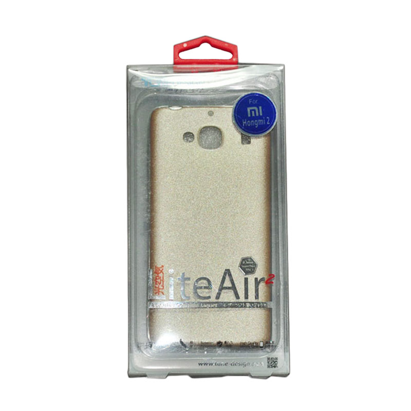 Tunedesign Lite Air 2 Gold  Casing for Xiaomi Redmi 2 + Tempered Glass