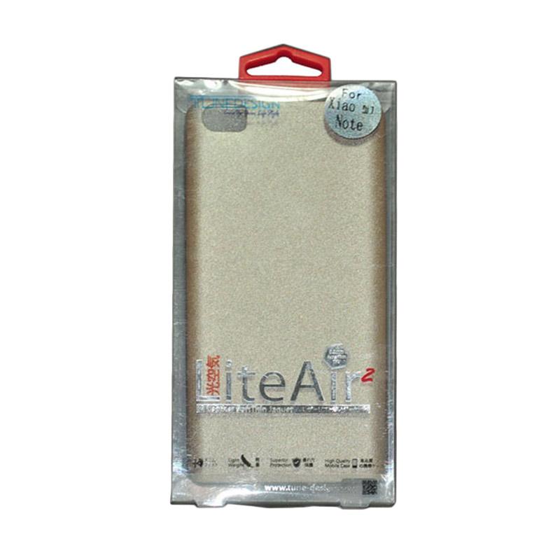 Tunedesign Lite Air 2 Gold Casing for Xiaomi Mi Note/Redmi Pro + Tempered Glass