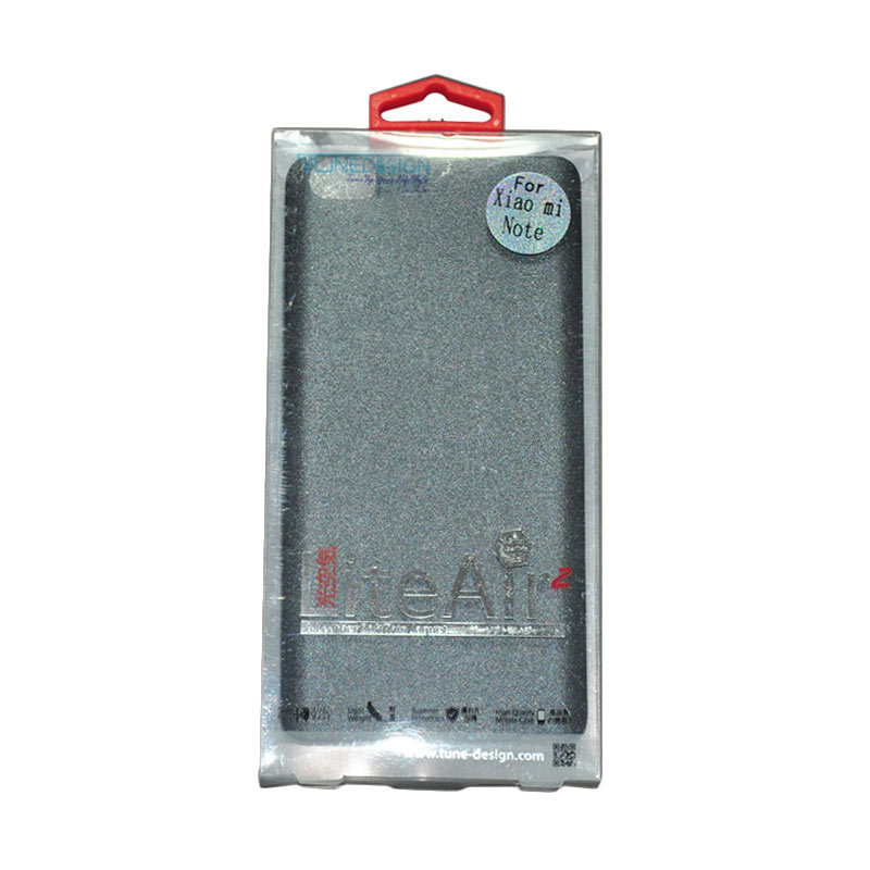 Tunedesign Lite Air 2 Grey Casing for Xiaomi Redmi Note + Tempered Glass