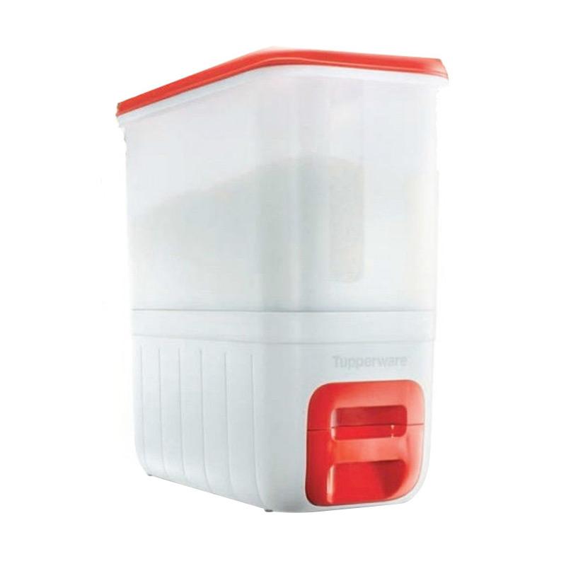 harga Tupperware Merah Putih Rice Dispenser Tempat Beras Blibli.com