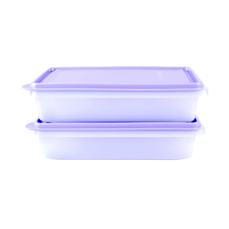 Tupperware Stak And Stor Medium purple Kotak Makan [2 Pcs]