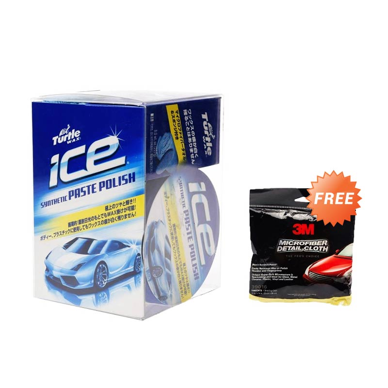 Buy 1 Turtlewax Ice Ice Paste Polish T465 Cairan Pembersih 227 gr  Get 1 3M Microfibre Detailing Cloth