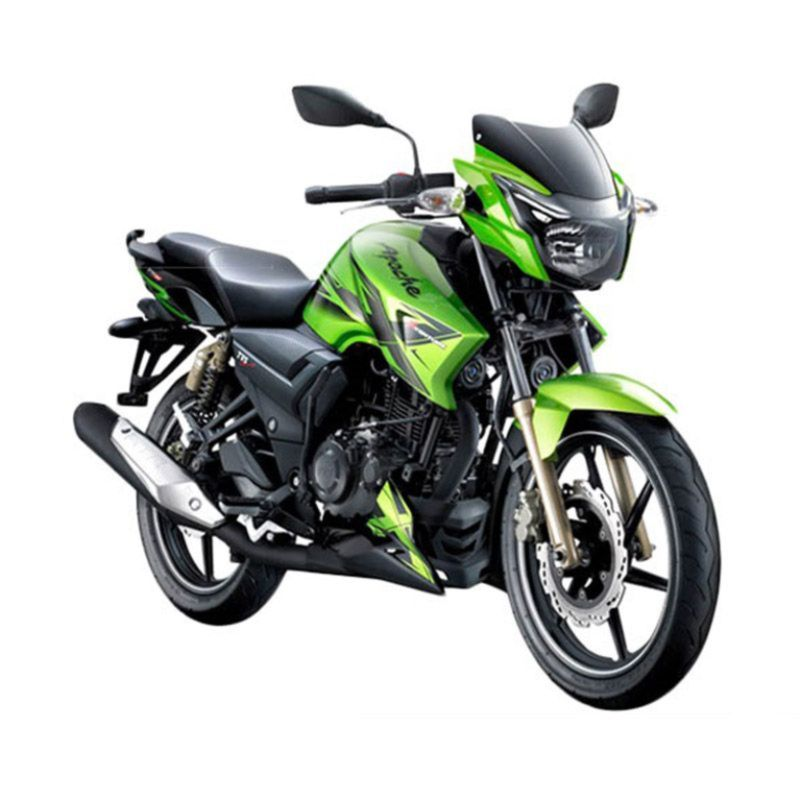 TVS Apache Xventure 180 Hijau Sepeda Motor [OTR Jabodetabek]