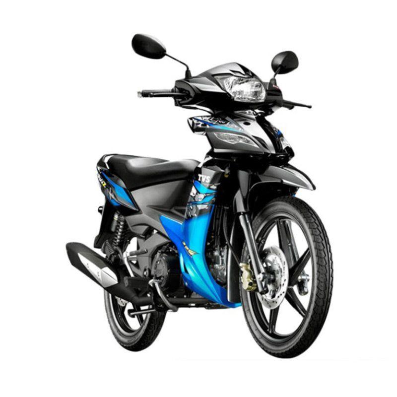 TVS RockZ Biru Sepeda Motor [OTR Jabodetabek]