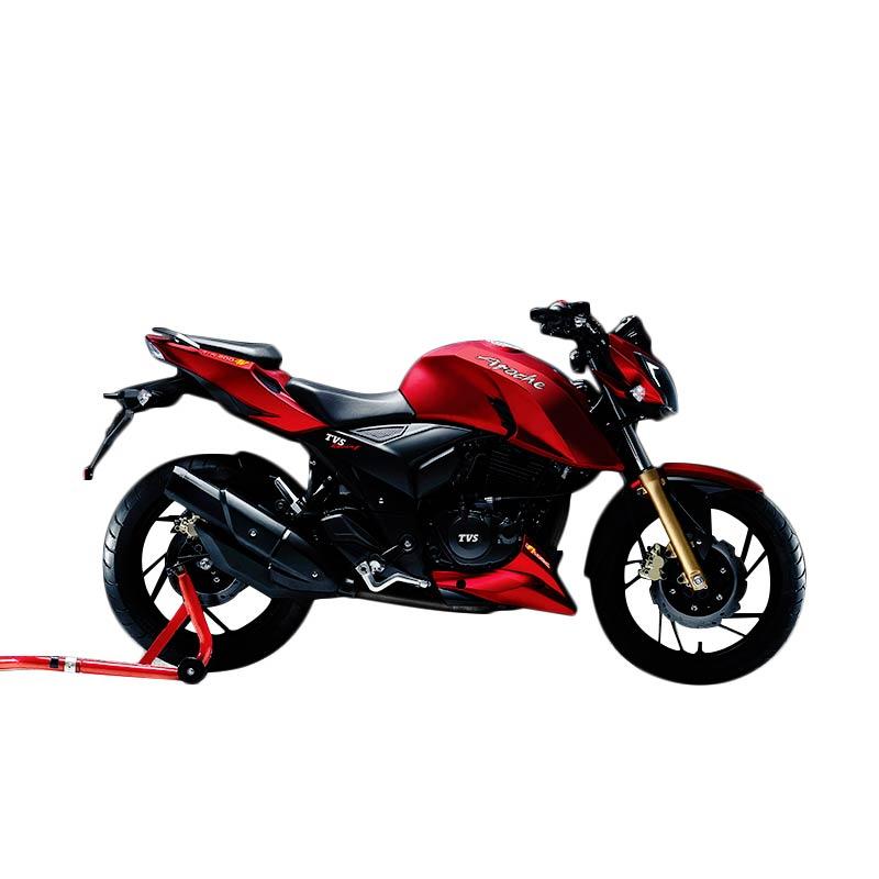 TVS Apache RTR 200 4V Syrah Red Sepeda Motor [OTR Jadetabek]