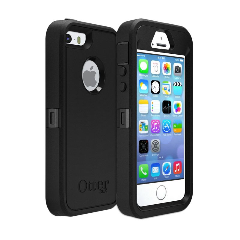 OtterBox Defender Black Casing for iPhone 5 or 5s