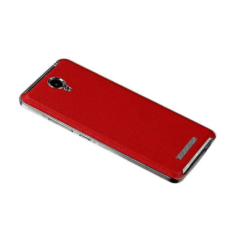 Twelve Accessories Octa Leather Red Casing for Redmi Note 2