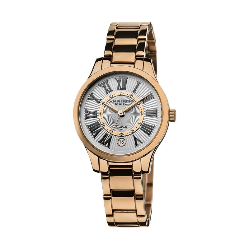 AKRIBOS XXIV Diamond Rose Gold Jam Tangan Wanita