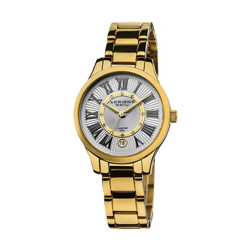 AKRIBOS XXIV Diamond Yellow Gold Jam Tangan Wanita