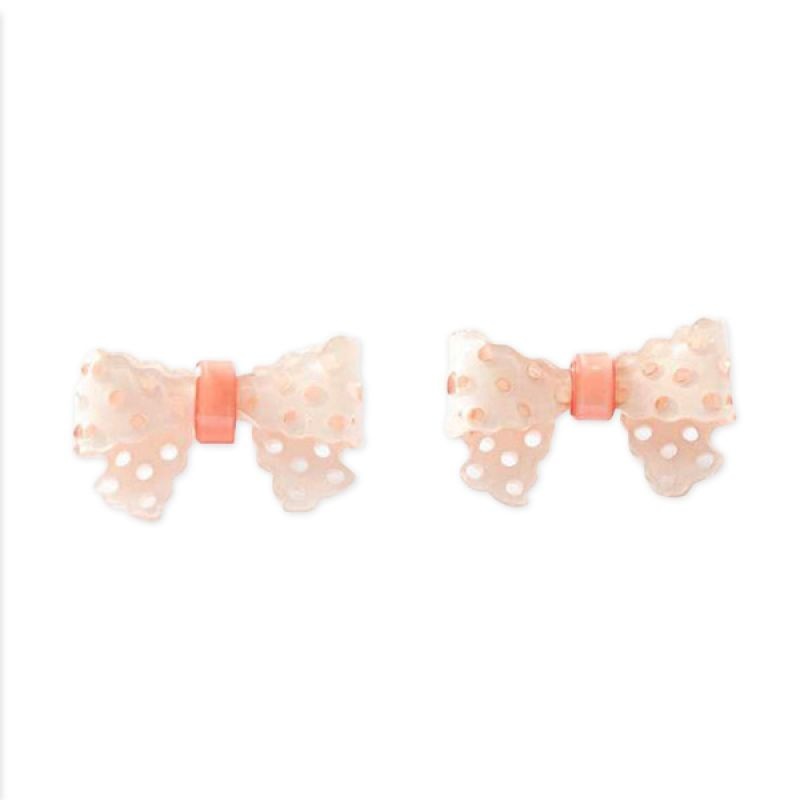 Twiinkles Acrylic Bow Earrings Ivory (2060020)