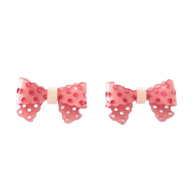 Twiinkles Acrylic Bow Earrings Pink (2060007)