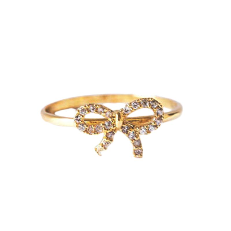 Twiinkles Alloy Ribbon Crystal Ring (5040001)
