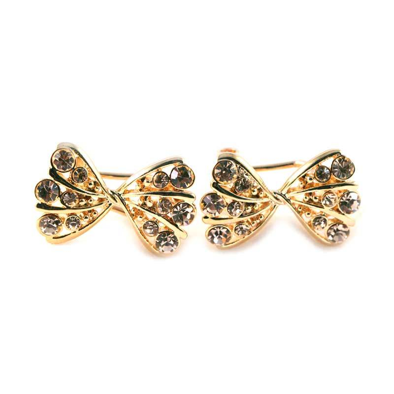 Twiinkles Bow Gold Plated Earring (2090014)
