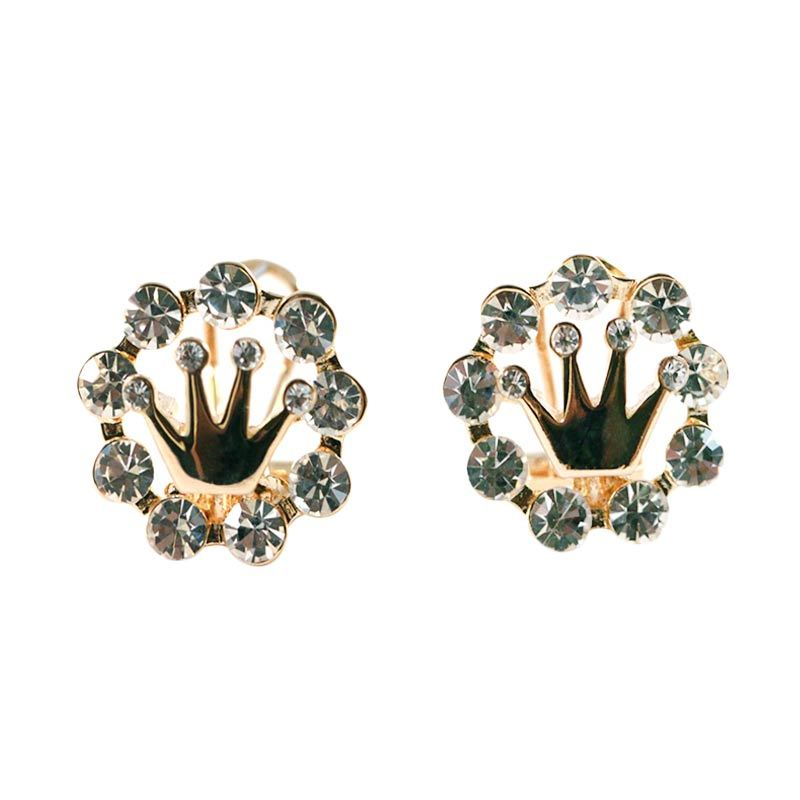 Twiinkles Circle Crown Gold Earring (2090005)
