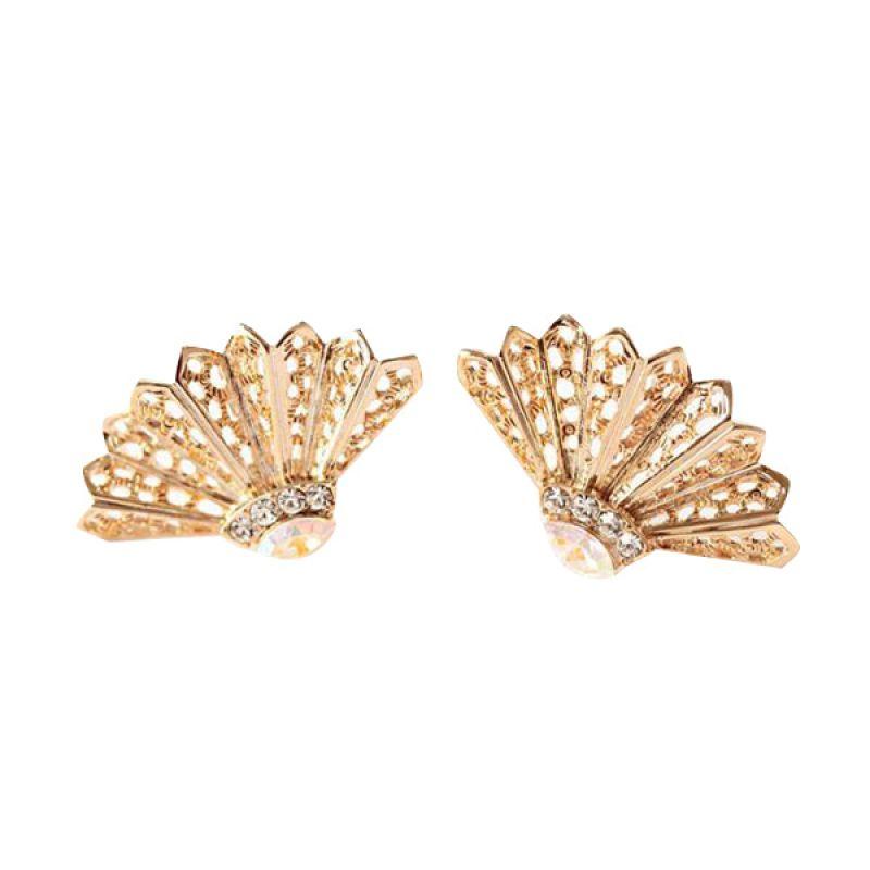 Twiinkles Golden Shuttlecocks Earrings (2070039)