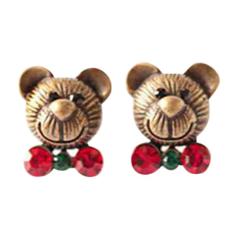 Twiinkles Teddy Bear Earrings Red (2070047)