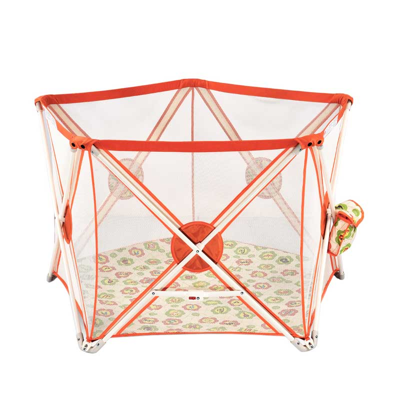 Twomother Hexagonal Portable Playard Playpen Pagar Pengaman Bayi - Orange