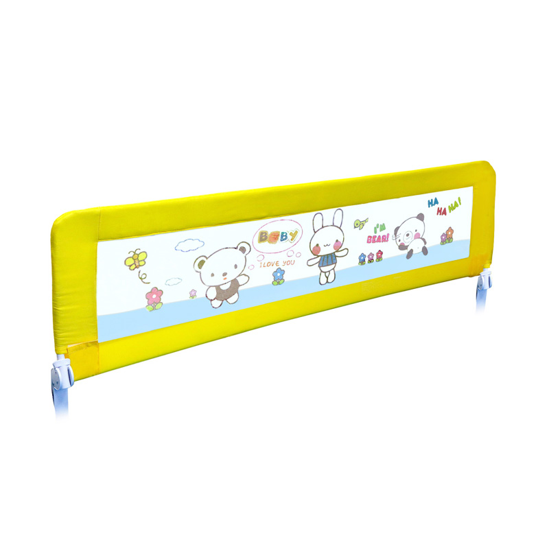 Twomother Infant Baby Bed Safety Guard Rail - Yellow Bear [150 cm]