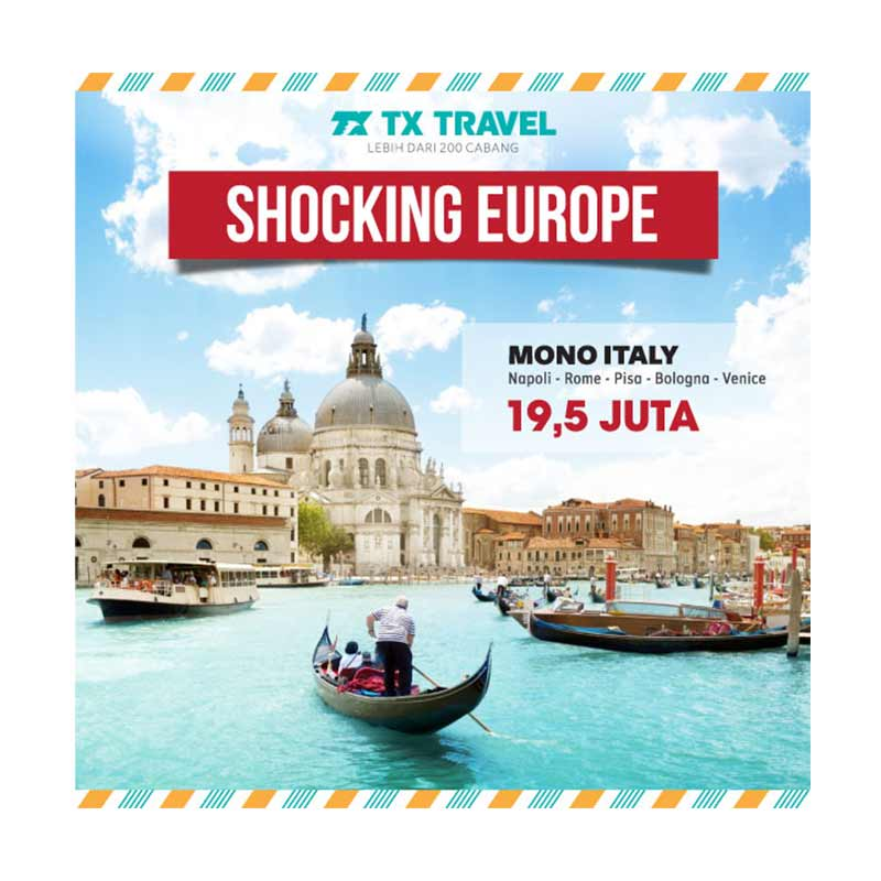 TX Travel - Tour Mono Italy E-Voucher [8D5N]