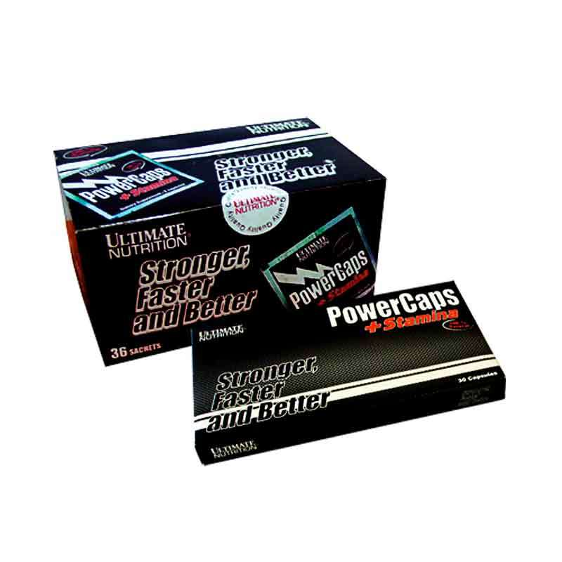 Ultimate Nutrition - Power Caps Box (36 Sachets)