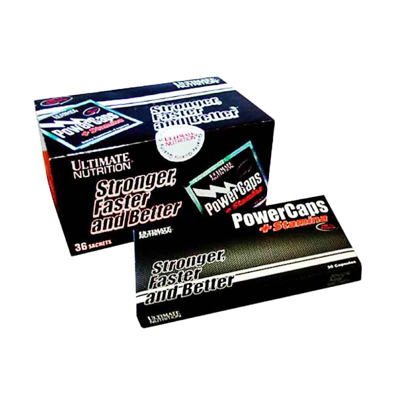 Ultimate Nutrition Power Caps Box Suplemen Penambah Energi [36 Sachet]