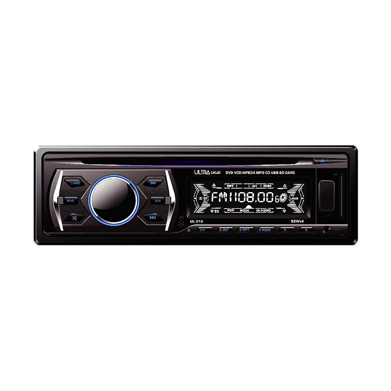 Ultra Linear UL-312 DVD Hitam Head Unit Single Din
