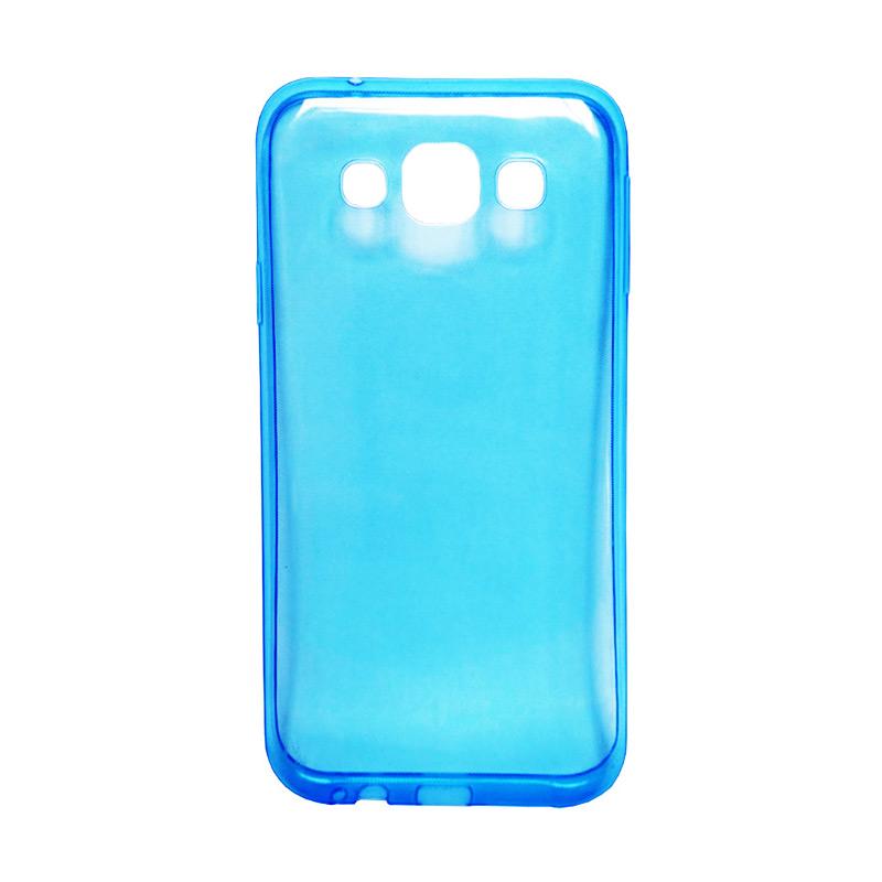 harga Ultra Thin Transparant Softcase Casing for Lumia 640XL - Biru Blibli.com