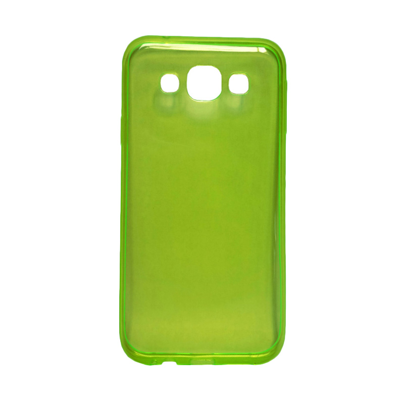harga Ultra Thin Transparant Softcase Casing for Samsung GalaxyS7 - Hijau Blibli.com