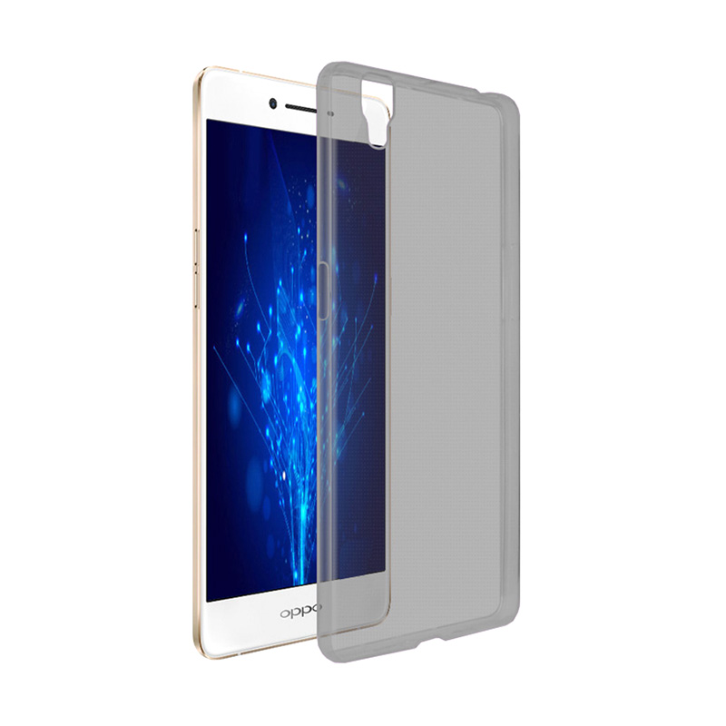 Ultrathin Clear Softcase Casing for Oppo R7S - Hitam