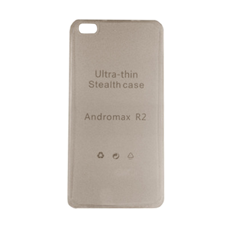 Ultrathin Clear Softcase Casing for Andromax R2 - Hitam