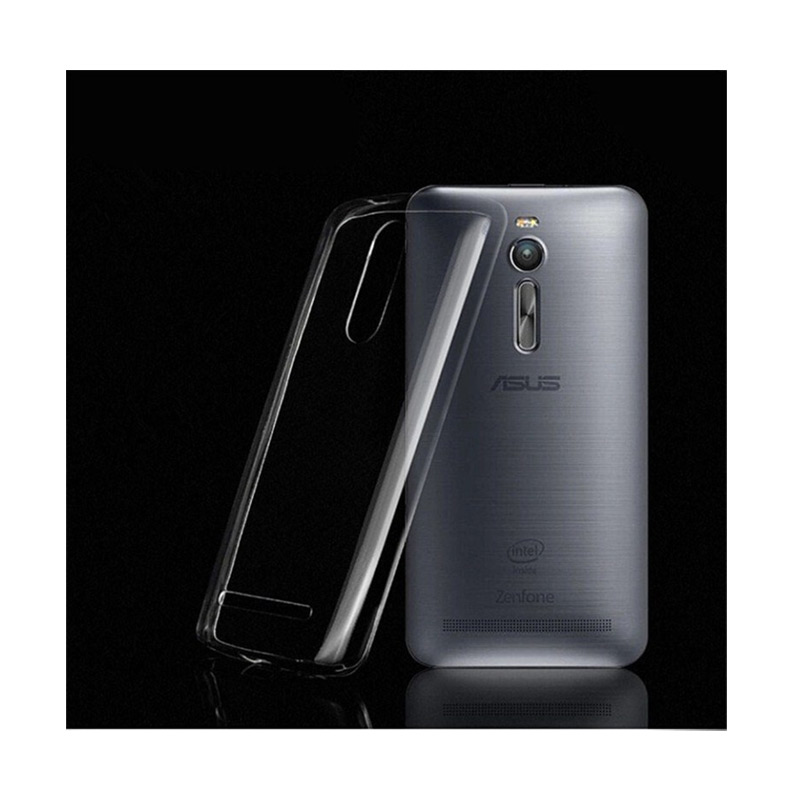Ultrathin Softcase Casing for Asus Zenfone 2 ZE550ML - Hitam Clear