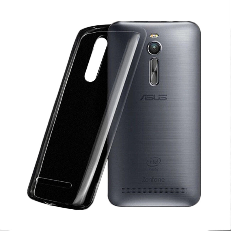 Ultrathin Softcase Casing for Asus Zenfone 2 ZE551ML - Hitam Clear