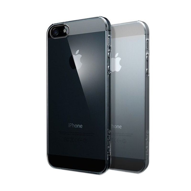 Ultrathin Softcase Casing for iPhone 4 - Hitam Clear