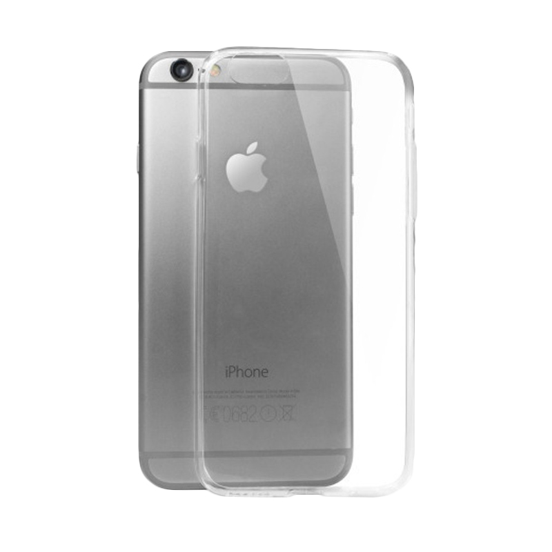 Ultrathin Softcase Clear Casing for iPhone 6 or 6s - Hitam [4.7 Inch]