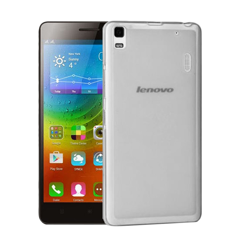 Ultrathin Softcase Casing for Lenovo A7000 - Hitam Clear