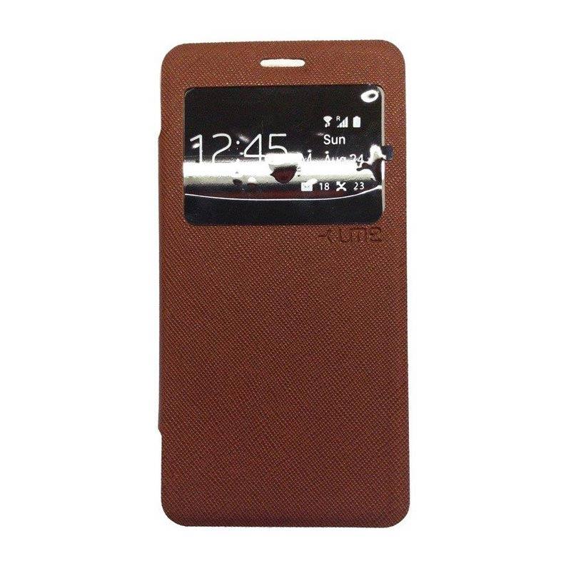 harga Ume Enigma Flip Cover Cokelat Casing for Samsung Galaxy J3 Blibli.com