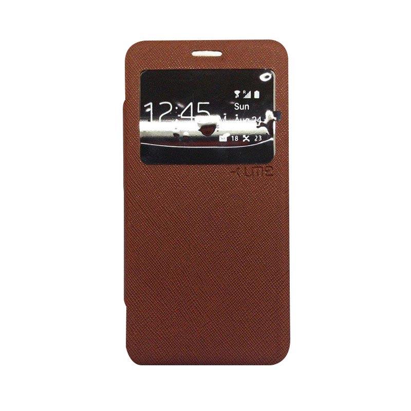 Ume Flip Cover Casing for Asus Zenfone 2 5 inch - Coklat